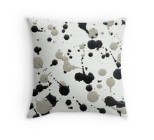 Marble Tears, White Throw Pillow
