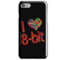 i heart 8 - Bit iPhone Case/Skin
