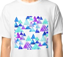 Watercolor Triangles Classic T-Shirt