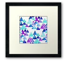 Watercolor Triangles Framed Print