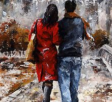 Rainy day 05 - Walking in the rain by Imre Toth (Emerico)