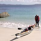 Kayaker From Melbourne To Bridport by Andrew  Makowiecki