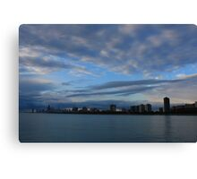 Chicago City Skyline from Montrose Harbor Canvas Print