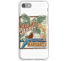 screaming parrot beach bar iPhone Case/Skin