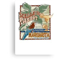 screaming parrot beach bar Canvas Print