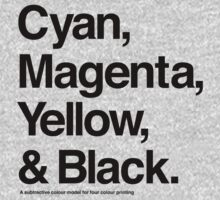 Cyan, Magenta, Yellow & Black (Black) Kids Clothes