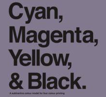 Cyan, Magenta, Yellow & Black (Black) Kids Clothes