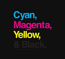 Cyan, Magenta, Yellow & Black Unisex T-Shirt