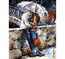Rainy day 18 - Love in the rain Photographic Print
