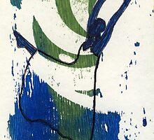 Dancer-aqua2 by Sandy  Coleman