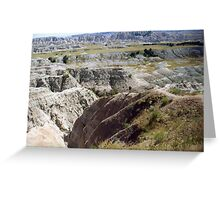 The Badlands in South Dakota Greeting Card