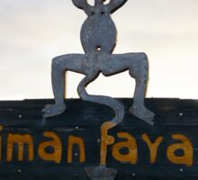 Timanfaya devil Sticker