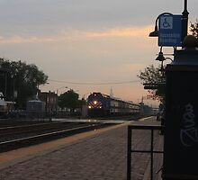 Sunrise from the Berwyn, IL train station by Adam Kuehl