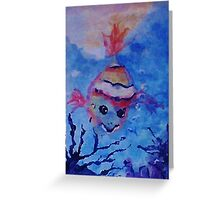 A lone little clown fish. watercolor Greeting Card