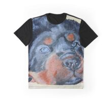 Rottweiler Puppy Portrait Graphic T-Shirt