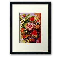 Rose Bouquet, watercolor Framed Print