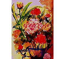 Rose Bouquet, watercolor Photographic Print