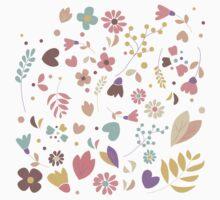 Flower pattern 04 Kids Tee