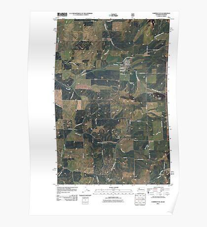 USGS Topo Map Washington State WA Farmington 20110428 TM Poster