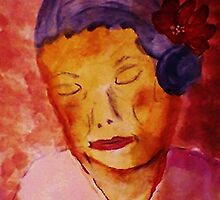 Grace while growing old, watercolor by Anna  Lewis