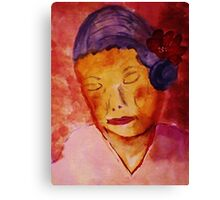 Grace while growing old, watercolor Canvas Print