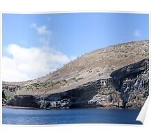 Galapagos landscape. Poster
