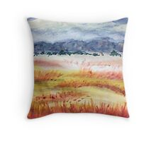 The Grasslands, watercolor Throw Pillow