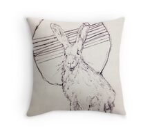 Billy Bagilhole Hare drawing Throw Pillow