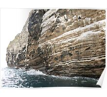 Cliff face. Poster
