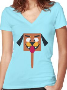 Cute Doggy Women's Fitted V-Neck T-Shirt