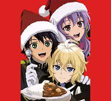 "Owari no Seraph - Seraph of the End (S2) - Shinoa Hiiragi - Mikaela ""Mika"" Hyakuya - Yuuichirou ""Yuu"" Hyakuya - Christmas Unisex T-Shirt"