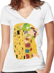 Klimt muppets Women's Fitted V-Neck T-Shirt