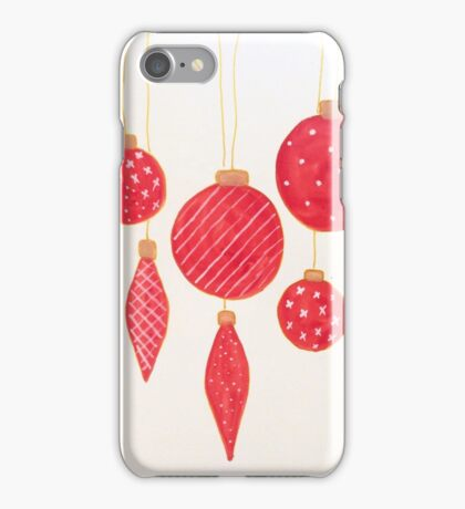 Beautiful red Christmas balls  iPhone Case/Skin