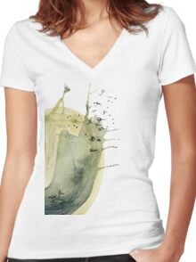 watercolor series N1 Women's Fitted V-Neck T-Shirt