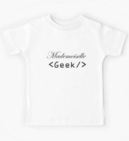 mademoiselle geek Kids Tee
