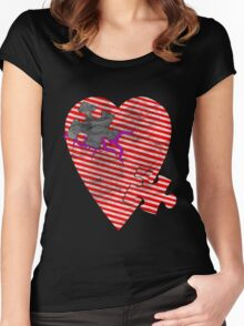 saw heart Women's Fitted Scoop T-Shirt