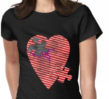 saw heart Womens Fitted T-Shirt