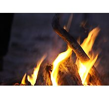Letters of Fire Photographic Print