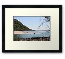Low Tide At Tallebudgera Creek Entrance Framed Print