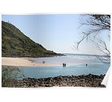 Low Tide At Tallebudgera Creek Entrance Poster