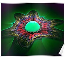 Feather Flower Egg Poster