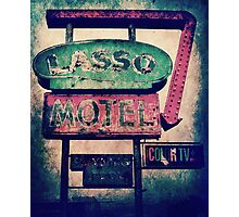 Lasso Motel Photographic Print