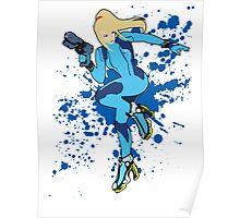 Zero Suit Samus - Super Smash Bros Poster