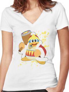 King Dedede - Super Smash Bros Women's Fitted V-Neck T-Shirt
