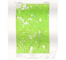 USGS Topo Map Washington State WA Cliff Ridge 240572 1964 24000 Poster