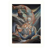 Man Floating Upside Down: The Book of Urizen Art Print