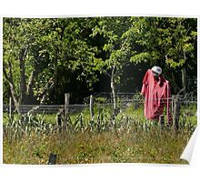 All day it is there .... Mr. scarecrow red sport ! 3   (c) (h) by Olao-Olavia / Okaio Créations  by fz 1000 2015 Poster