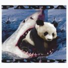 Shark eating Panda by Jacobmings