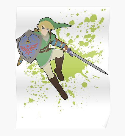 Link - Super Smash Bros Poster