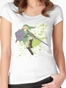 Link - Super Smash Bros Women's Fitted Scoop T-Shirt